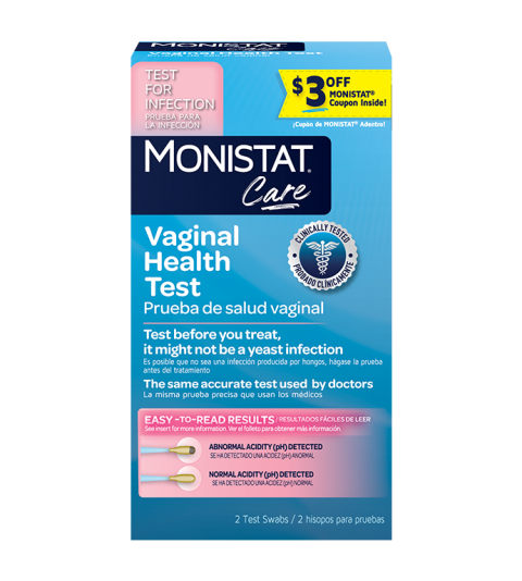 monistat care product vaginal health test